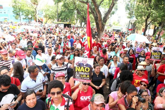 Manifestação no Centro de Teresina (Crédito: Efrém Ribeiro)