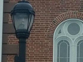 Prefeita posta foto de poste que parece ter rosto humano
