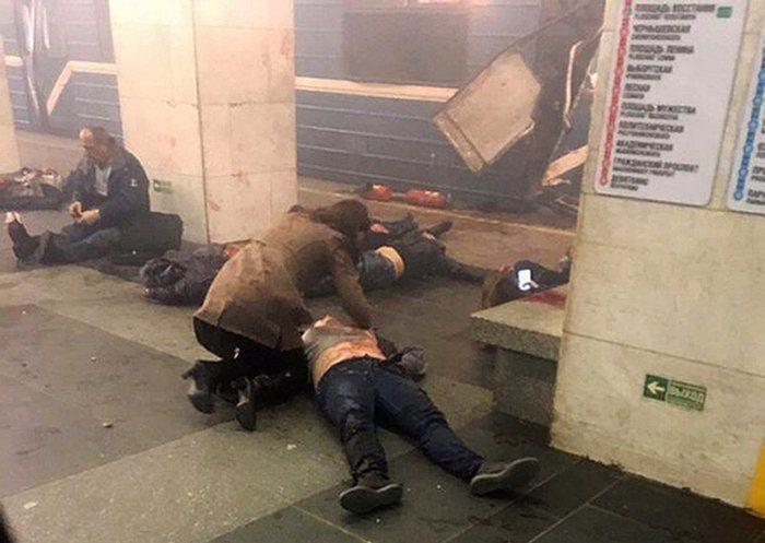 Explosão no metrô de São Petersburgo