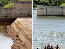 Em 4 meses paisagem da barragem do Rio Piracuruca muda totalmente