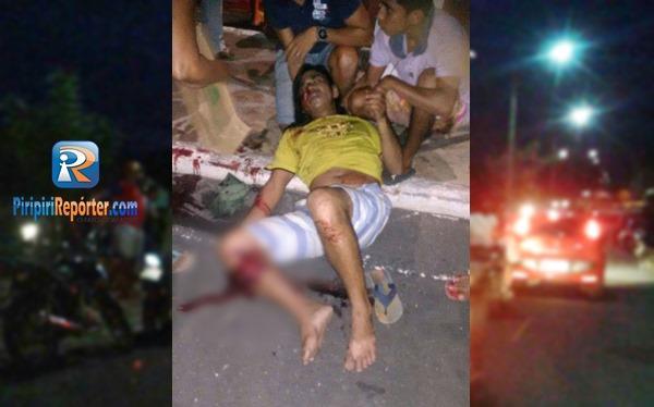 Motociclista fica gravemente ferido após acidente em Piripiri