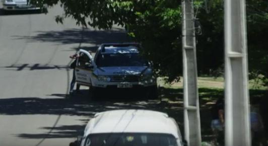 PM é flagrado usando veículos oficial como carro particular