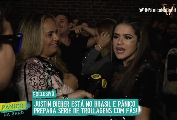 """Maisa dá cortada no """"Pânico"""" ao ser questionada sobre Justin Bieber"""