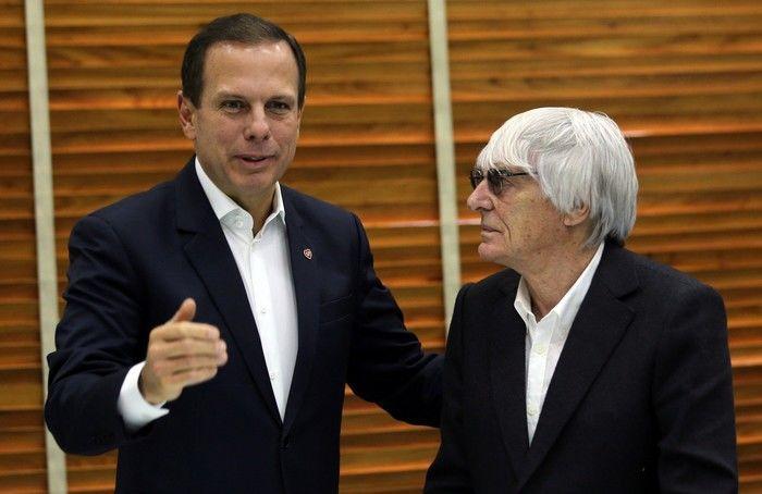 Doria em encontro com Ecclestone (Crédito: Reprodução)