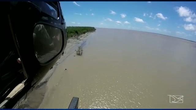 Helicóptero do CTA realiza buscas pela região (Crédito: Reprodução)