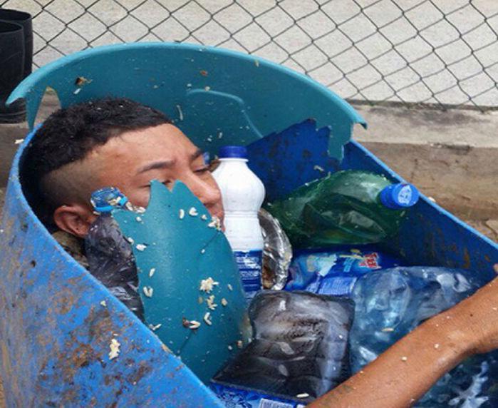 Detento tentou escapar de presídio escondido dentro de tambor de lixo (Crédito: Reprodução)