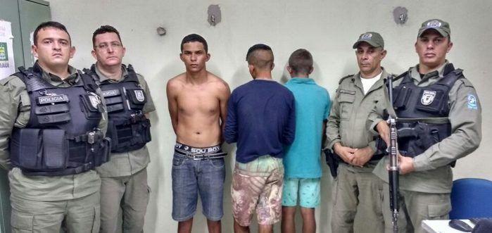 Trio capturado após perseguição na BR-316 (Crédito: Divulgação)