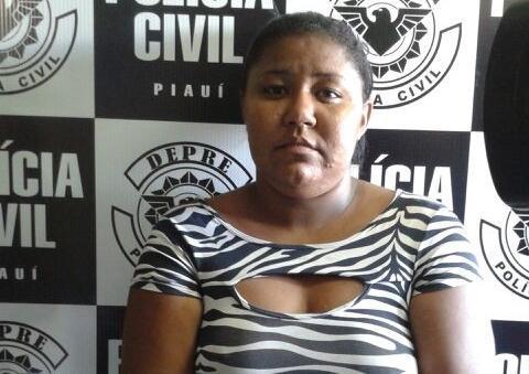 Gleiciane Regina Nascimento Silva, esposa de um conhecido traficante (Crédito: Divulgação)