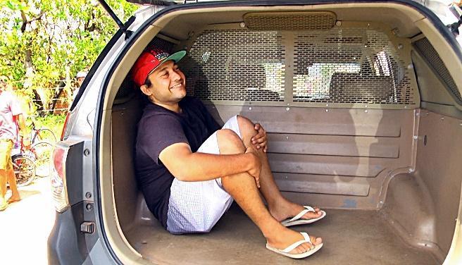 Tiego Caldas da Costa abriu o sorriso ao ser preso.  (Crédito: João Júnior / Rede Meio Norte)