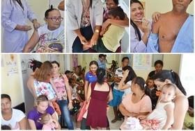 """Saúde realiza dia """"D"""" da campanha de vacinação contra gripe"""