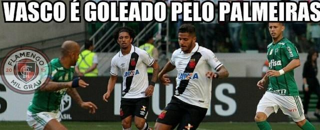 Vasco é alvo de piadas na web após sofrer goleada para o Palmeiras