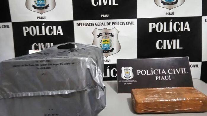Cocaína apreendida em ônibus em Picos (Crédito: Divulgação)