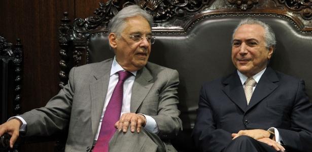 FHC ao lado do presidente Michel Temer