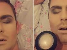 Homem em 'coma alcoólico' é maquiado pela própria namorada