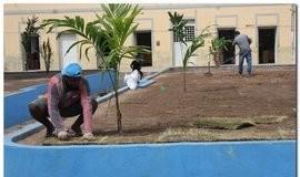 Prefeitura de Inhuma realiza implantação de grama em Praças