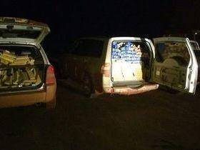 Carga de maconha apreendida em carros quase enche sala da polícia