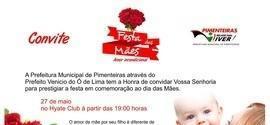 Festa das mães será nesse sábado em Pimenteiras