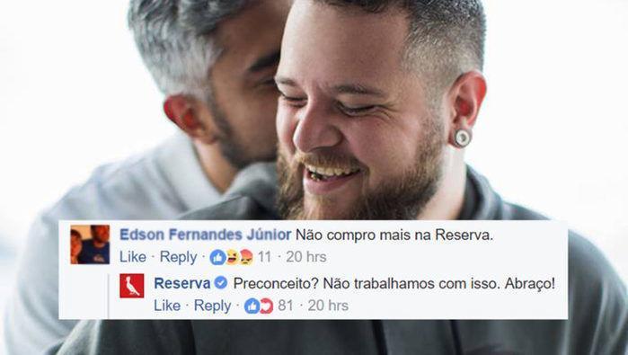 Empresa recebe comentário homofóbico e responde à altura