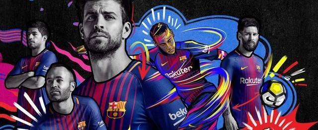 Com Neymar, Messi e Suárez, Barcelona lança nova camisa 2017/2018