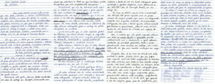 Detentas escreveram uma carta para a direção