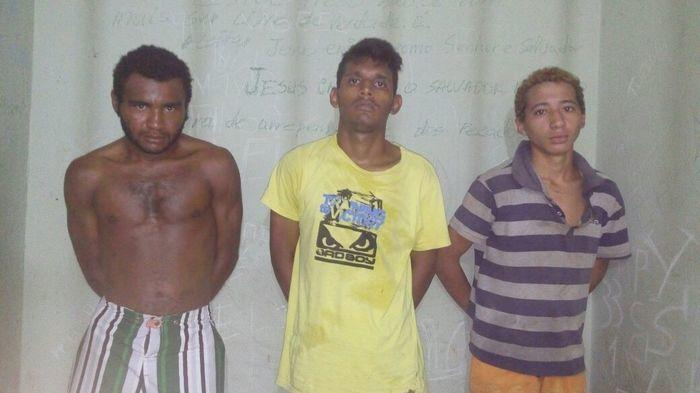 Trio é preso acusado de vários roubos e arrrombamentos (Crédito: Divulgação)