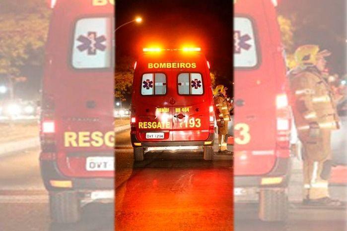 Mulher sofre queimaduras durante incêndio em restaurante no DF