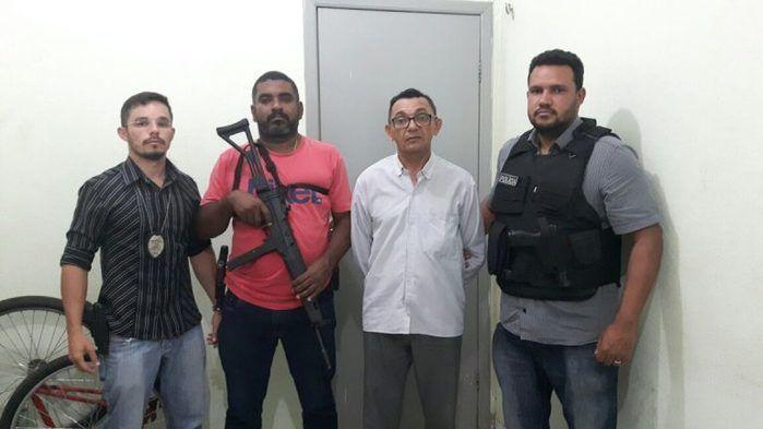 Acusado Antônio Carlos, preso no centro de José de Freitas
