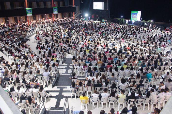 Mais de 3 mil alunos acompanharam 2ª revisão Pré Enem (Crédito: Seduc)