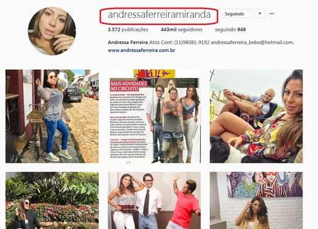 Andressa Ferreira passa a usar o sobrenome de Thammy Miranda