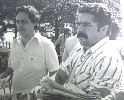 Lula e FHC panfletando juntos