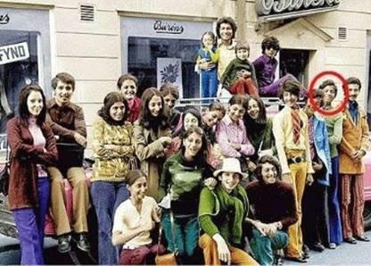 Família Bin Laden. Osama é o círculo