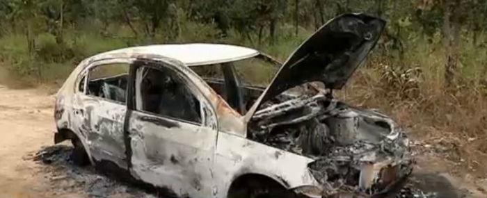 Corpo e o carro incendiado foram encontrados (Crédito: Rede Meio Norte)