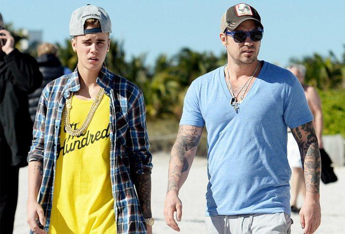 Justin Bieber e seu pai Jeremy