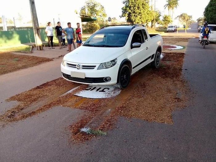 Condutor foi levado à delegacia de Ji-Paraná (Crédito: Reprodução)