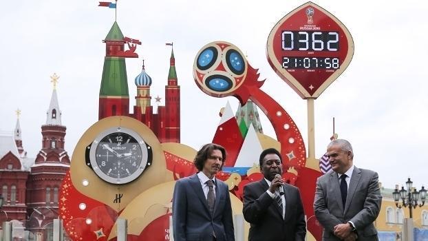 Pelé foi o responsável por iniciar a contagem regressiva para a Copa do Mundo da Rússia (Crédito: Getty)
