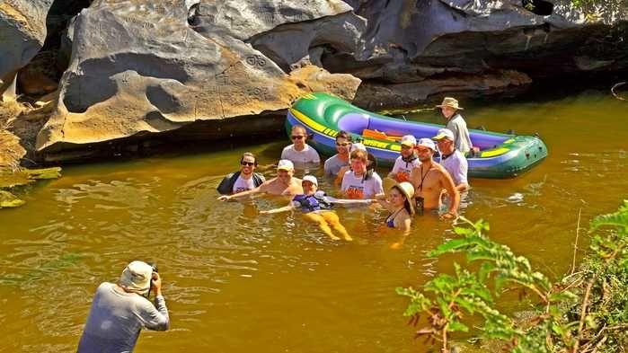 Expedicionários do Canyon do rio Poti. Ecoturismo é forte vocação para a região que integra os municípios de Buriti dos Montes, Castelo e Juazeiro do Piauí.   (Crédito: Alcide Filho)
