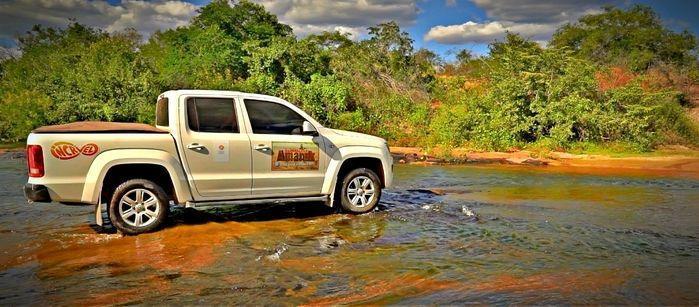 Amarok, a pickup oficial da Expedição Canyon do rio Poti. (Crédito: Alcide Filho)