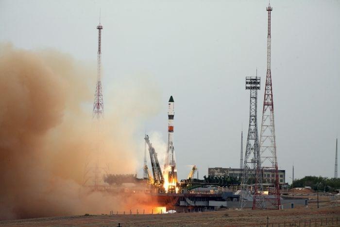 O foguete russo foi lançado do cosmódromo de Baikonur, no Cazaquistão (Crédito: Reprodução)