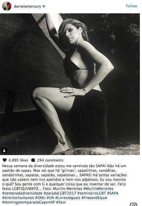 """Daniela Mercury posa sensual e dispara:""""Estou me sentindo tão sapa"""""""