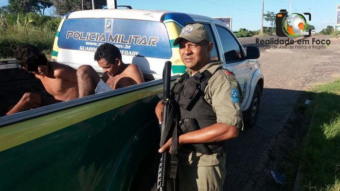 Dupla suspeita de assalto é capturada pela Polícia