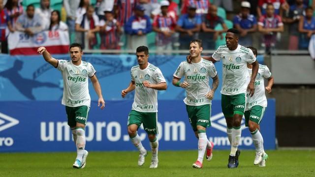 Palmeiras venceu jogo duro contra o Bahia neste domingo (Crédito: Reprodução)