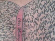 Pai tatua nome da filha 289 vezes e bate recorde mundial