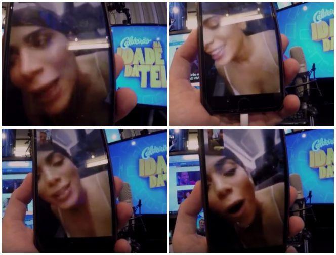 Anitta revela para Luciano Huck que levou fora de câmera gato