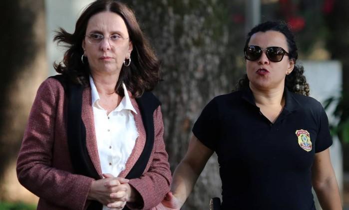 Andrea Neves durante sua prisão