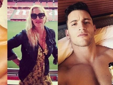 Madonna se envolve em triângulo amoroso com dois modelos