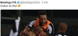 Após vencer o Vasco, Botafogo provoca na web: 'Melhor do Rio'