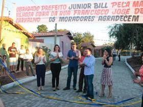 obras de calçamento são inauguradas em São Pedro do Piauí