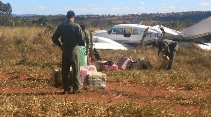 Avião foi interceptado pela Força Aérea, no Mato Grosso  (Crédito: Reprodução)