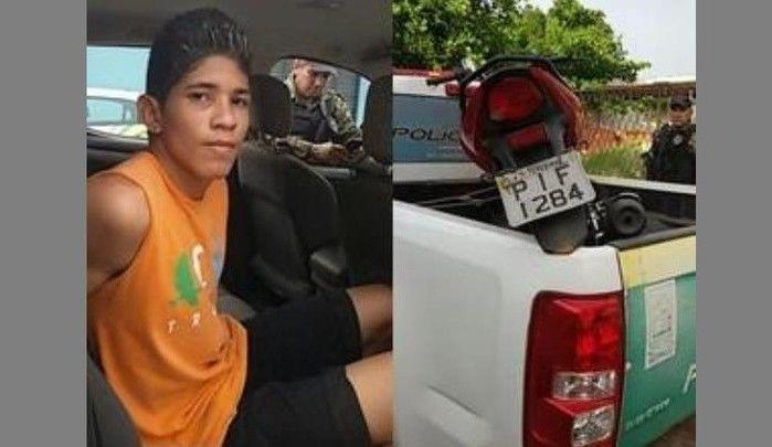 Tallyson Junior foi preso em Altos em 2016 suspeito de roubo de moto em Teresina