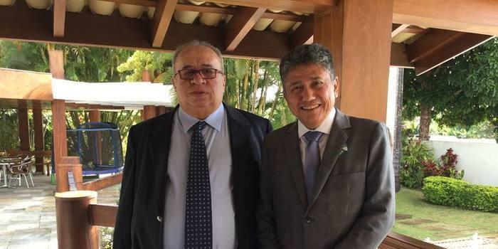 Prefeito de Bom Jesus Marcos Elvas almoça com o Presidente Temer